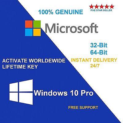 GENUINE WINDOWS 10 PRO 32 / 64BIT OEM ORIGINAL LICENSE KEY SCRAP PC