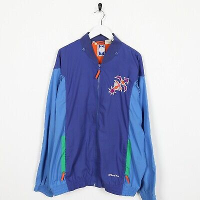 Vintage LOTTO Small Logo Soft Shell Track Top Jacket Blue Purple | 2XL