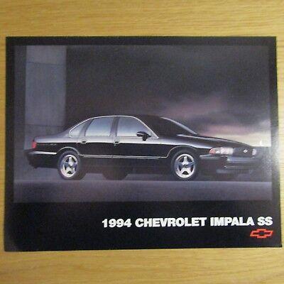 CHEVY CHEVROLET IMPALA SS 5.7 V8 Sedan Saloon USA American Brochure Flyer 1994