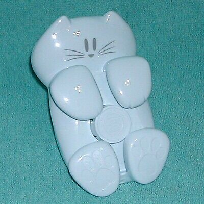 White Kitty Cat Kitten Desktop Post-it Pop Up Notes Sticky Note Dispenser Holder