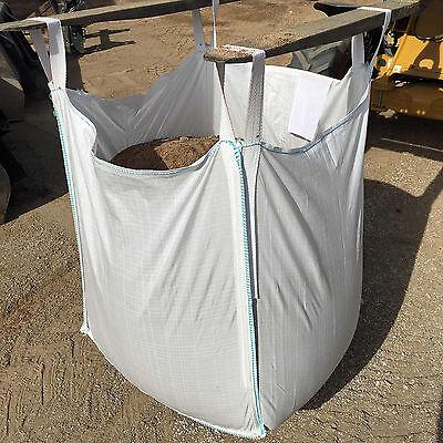 FIBC - One Ton Polypropylene Bulk Bag -Heavy Duty Large Open Top Closed Bottom