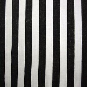 Black White Cotton Pirate Stripe Fabric Per Metre Ebay