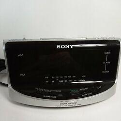 SONY DREAM MACHINE ALARM CLOCK am/fm RADIO MODEL ICF C492 AUTO large display
