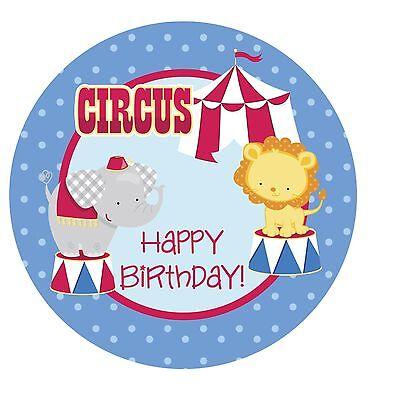 Circus Cakes (Circus Big Top Fun Edible ROUND Cake Topper)