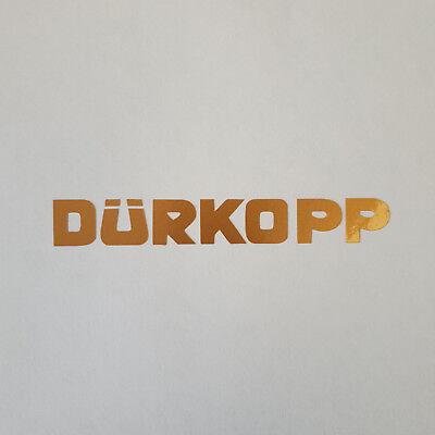 Aufkleber * Dürkopp * gold * Sticker * Logo * Oldtimer * Fahrrad * Abziehbild
