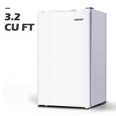 Compact Refrigerator Mini Freezer Home Dorm Fridge Appliances 3.2 Cu.ft White