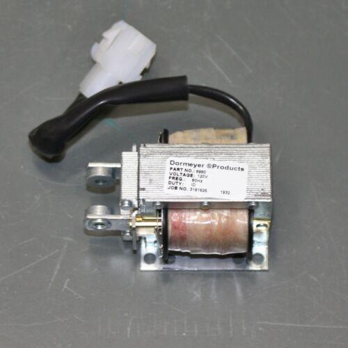 """Dormeyer Laminated AC Linear Solenoid 8980, 120VAC, 3/4"""" Maximum Stroke, w/ Plug"""
