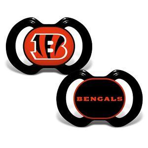 Cincinnati Bengals Baby Pacifier Set - Officially Licensed NFL BPA Free 2 Pack
