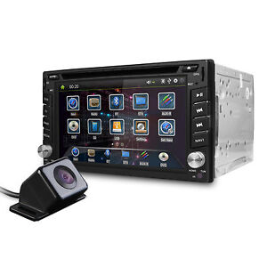 6.2'' GPS Double 2Din Car DVD Player Stereo Sat Nav Radio BT USB+ Reverse Camera