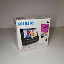 Philips Clock Radio AJL308 Alarm Photo Video Media 7 In LCD SD USB MP3 New NIB