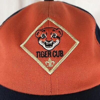 Cub Scout Tiger Cub Rank Uniform Hat Cap BSA Youth Adjustable First Grade S/M