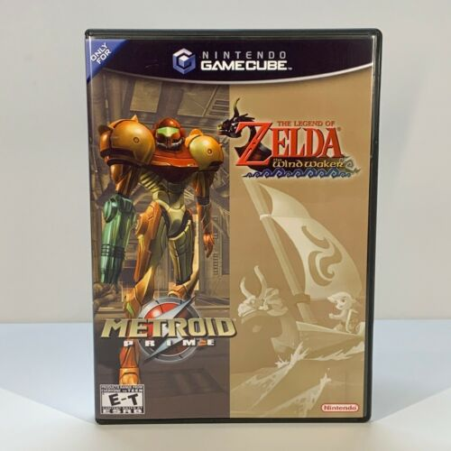 GameCube Replacement Case - Case Only - NO GAME - Metroid Prime/Zelda Windwaker