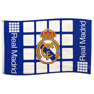 Real madrid official soccer gift 5x3ft body flag blue white - The body shop madrid ...