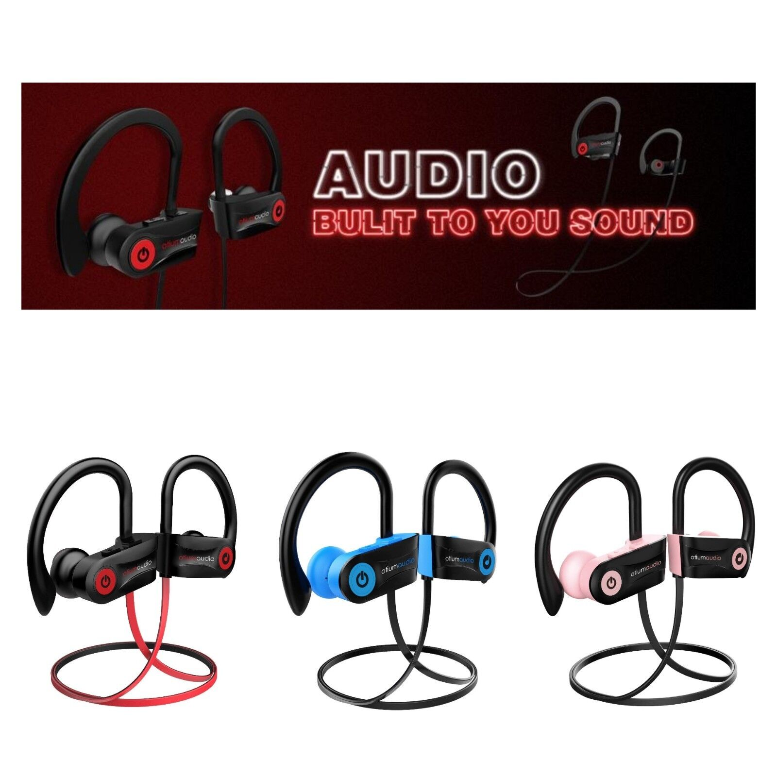 🎧 Bluetooth Headphones Otium Best Wireless Sports Earphon