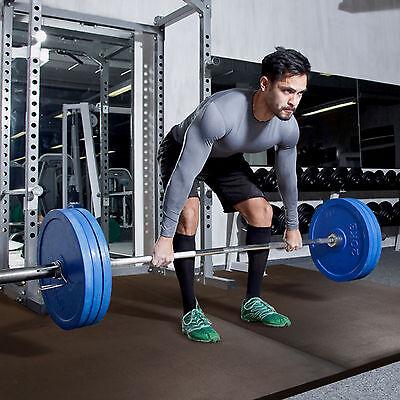 IncStores Shock Mats Interlocking Impact Absorbing Rubber Gym Flooring Mats