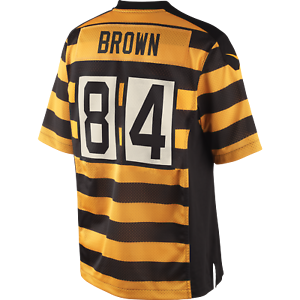 size 40 fa629 d3c59 Antonio Brown Bumble Bee Pittsburgh Steelers NFL Authentic Nike Jersey Large
