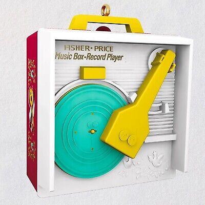 2019 Hallmark Ornament Fisher Price MUSIC BOX RECORD PLAYER Magic Sound NIB