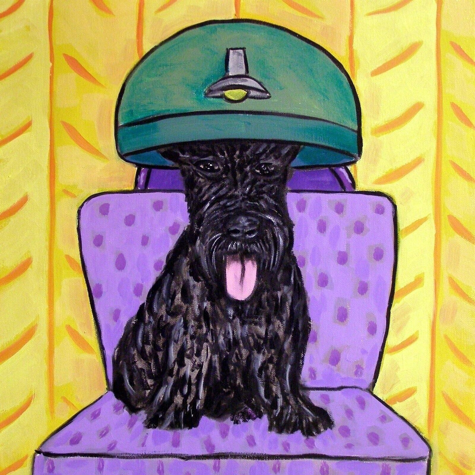 schnauzer dog pet salon wall art 13x19 PRINT  JSCHMETZ