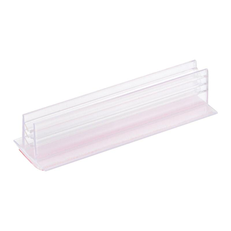 Sign Holder with Adhesive Fits Max 7mm Thickness Panel for Desk Counter, 16pcs