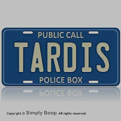 "Tardis Doctor Who Car Automobile Vanity Tag Aluminum License Plate 6"" x 12"""