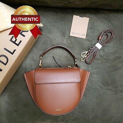 NEW Authentic WANDLER Hortensia Mini Brown Leather Bag / Crossbody