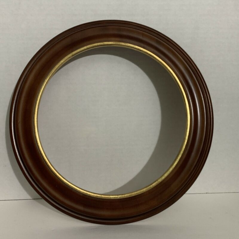 Van Hygan & Smythe Plate Frame 75-777 Wooden-Gold Accent - New in Box