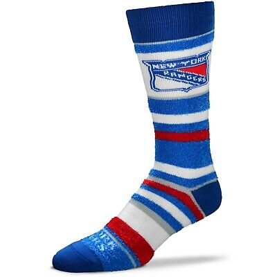 New York Rangers Womens Socks -  Women's New York Rangers For Bare Feet Soft Stripe Crew-Length Socks