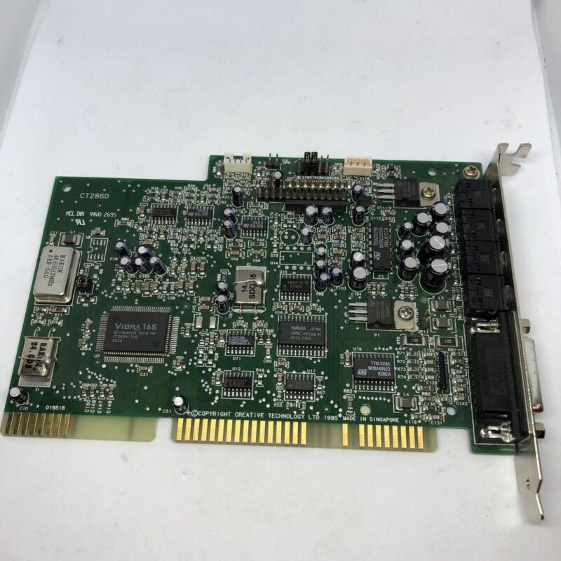 CREATIVE SOUND BLASTER VIBRA 16S YMF262-M OPL3 CT2860 ISA SOUND CARD HP