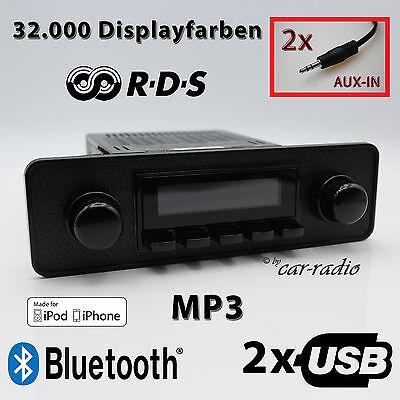 Retrosound Long Beach Komplettset Model Two Black Optik 1-DIN Oldtimer Radio RDS gebraucht kaufen  Gütersloh