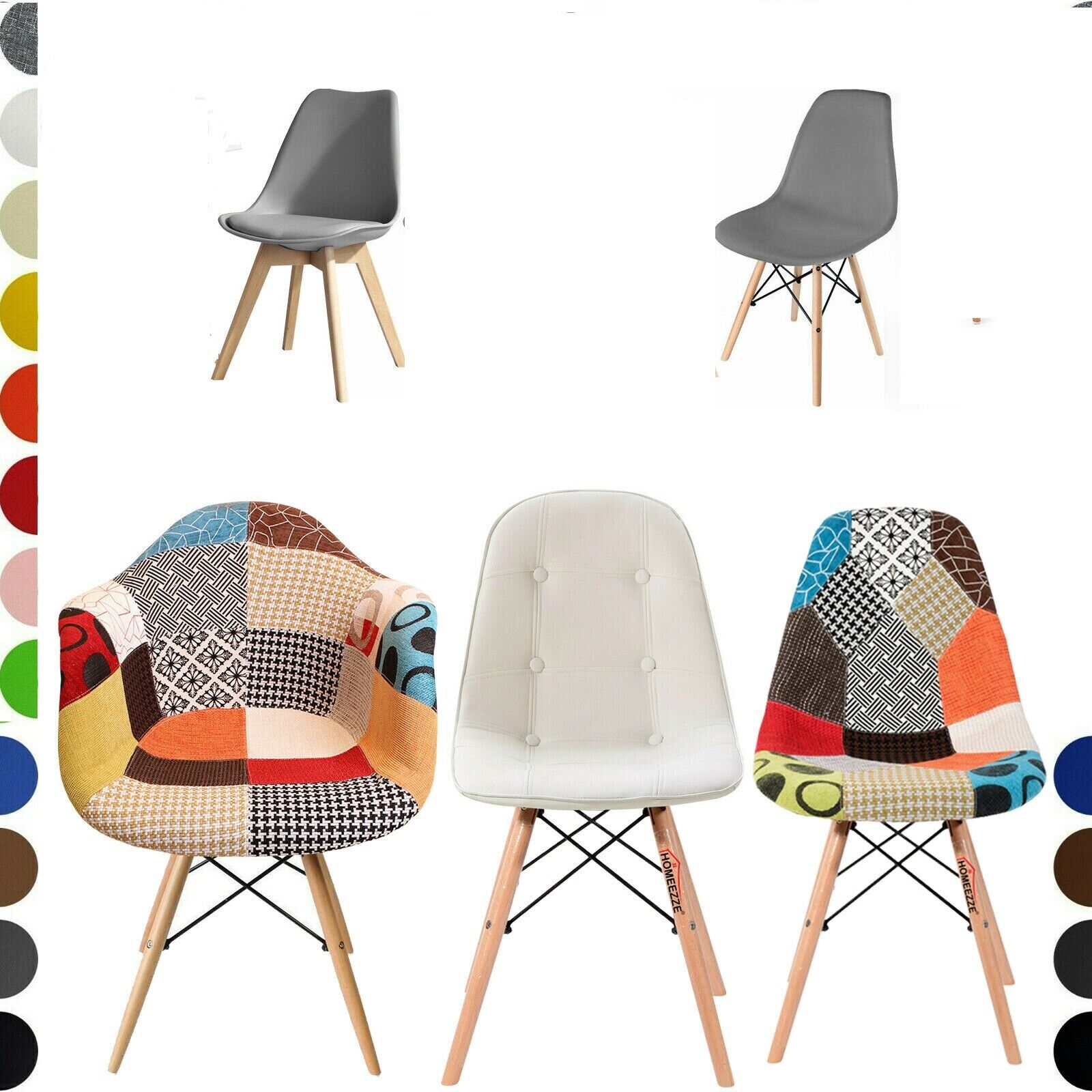 Prime Set Of 2 4 Eiffel Style Dining Chairs Armchair Solid Wood Patchwork Office Chair Pdpeps Interior Chair Design Pdpepsorg