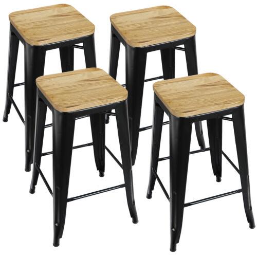 Barstools Set of 4 Counter Height Metal Indoor Outdoor Stack