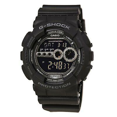 Casio Men's Watch G-Shock X-large G World Timer Black Resin Strap GD100-1B