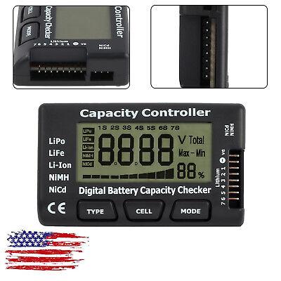 LCD Digital Battery Capacity Checker Tester Controller For LiPo LiFe Li-ion NiMH