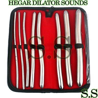 Hegar Dilator Set Uterine Urethral Diagnostic Surgical Sounds 8pcs