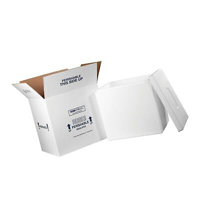 """Insulated Shipping Kits, 18"""" x 14"""" x 19"""", White, 1/Case"""