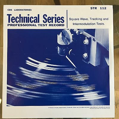 Stereophonic Frequency Test Record   Vinyl Lp Album   Str 112   Cbs New