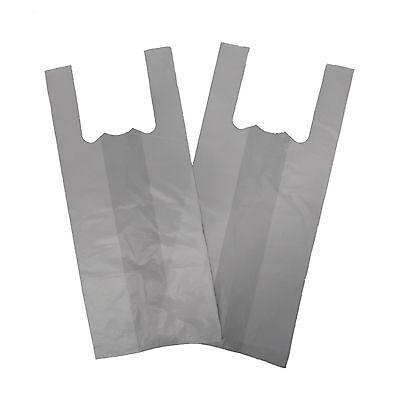 XXLarge Jumbo White 12''x18''x22'' Vest T-Shirt Carrier Bags x 1000  17micron