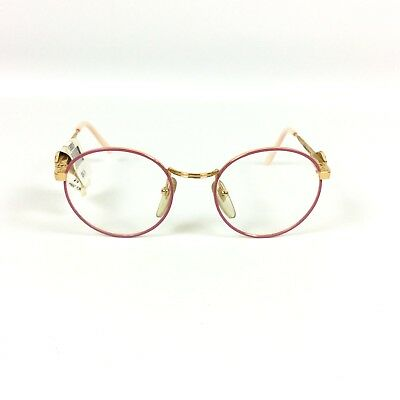 Mickey Mouse Eyeglass Kids Frames Pink Round Rx Glasses Marchon Eyewear 44 20 02