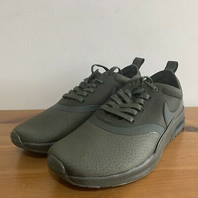 Nike Air Max Thea Premium Olive Green UK 4 Women's Trainers Deadstock 2016