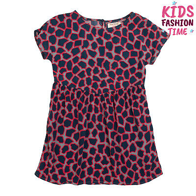 NICE THINGS MINI A-Line Dress Size 4Y Patterned Short Sleeve Crew Neck