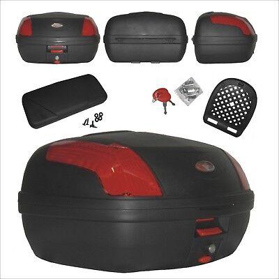 Top-box Mit Rückenlehne (Top Case Motorrad Bremsleuchten Top Box Koffer Motorrad mit Rückenlehne)
