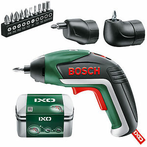 full set bosch ixo 5 lithium ion cordless screwdriver 06039a8072 3165140800051 ebay. Black Bedroom Furniture Sets. Home Design Ideas