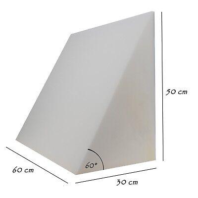 Keil Stützkissen (Bettkeil Keilkissen Schlafkeil Rückenstütze 60x50x30 cm ohne Bezug. Formalind®)