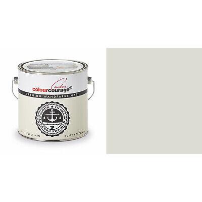 2,5l Colourcourage Premium Edelmatte Color Pared Polvo Porcelana Amarillo Claro