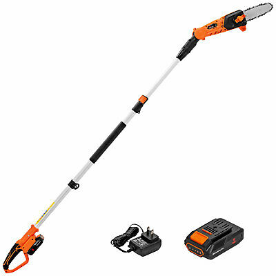 Cordless 20V 9-feet Pole Saw/Chainsaw w/Auto-Tension, Batter