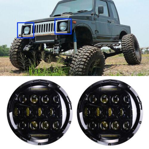 LED Headlight For Suzuki Samurai SJ410 7inch Round H4 H13 DRL Lights 2Pcs Hi/Lo