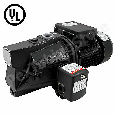 1 HP Shallow Well Jet Pump w/ Pressure Switch, 115/230V Dual Voltage, UL Jet Pump Switch