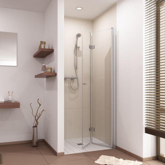 Duschabtrennung Dusche Duschtür Falttür für Nische Nischentür Nischenabtrennung