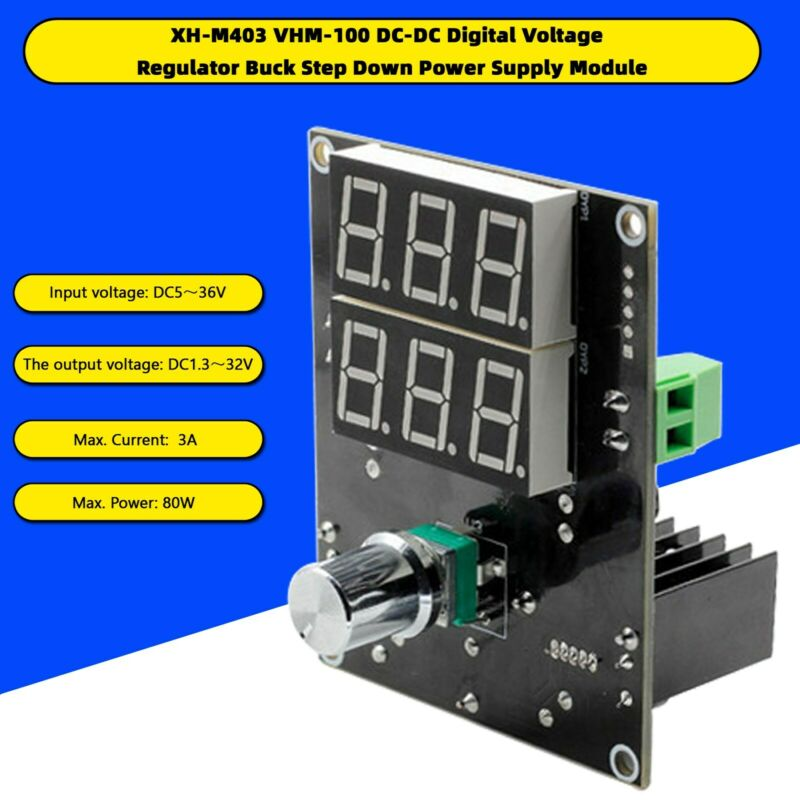 VHM-100 Digital Voltage Regulator Buck Step Down Power Supply Module