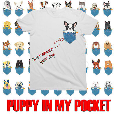 Childrens PUPPY IN MY POCKET T-Shirt for BOYS and GIRLS **CH